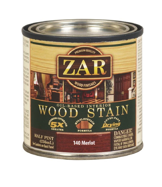 ZAR 14006 Interior Oil-Based Wood Stain, Merlot, 1/2 Pint