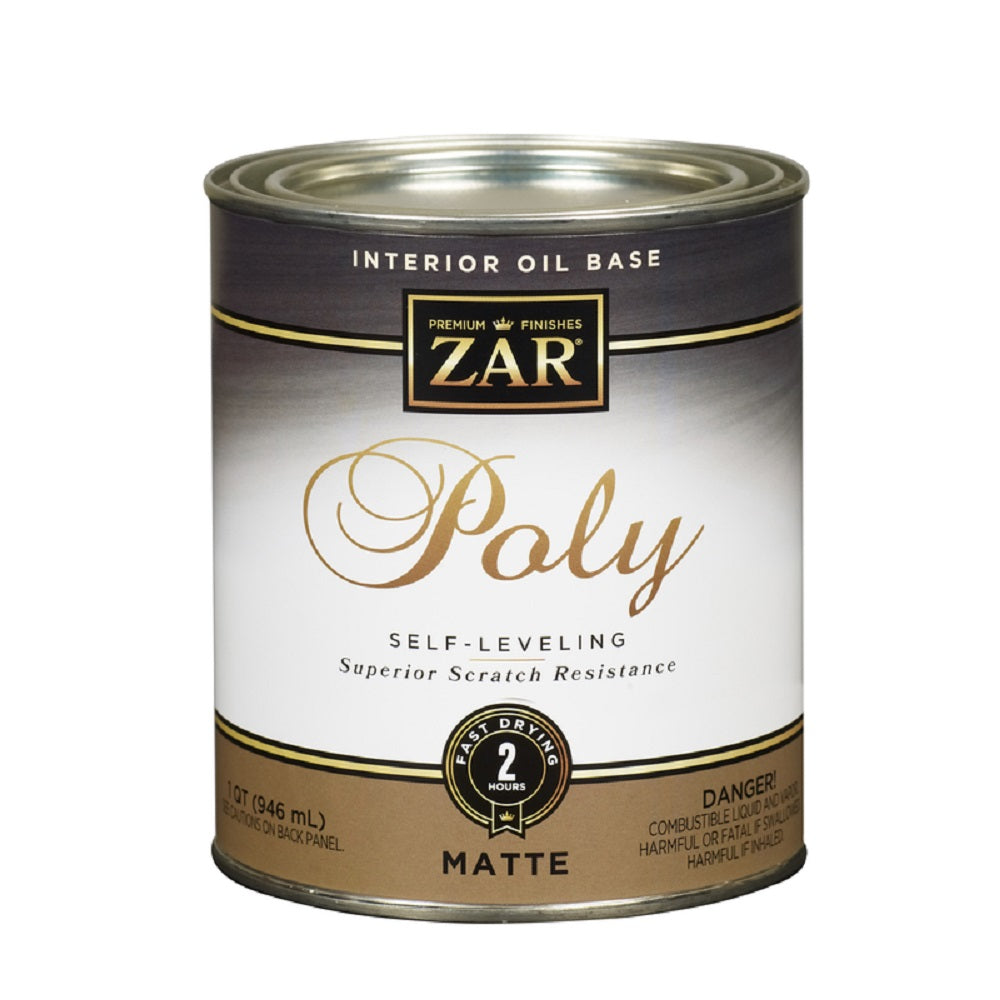 Zar 33912 Matte Oil-Based Polyurethane, Quart