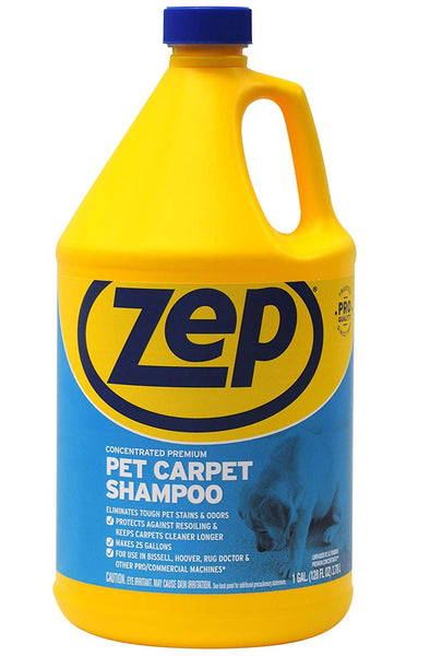 Zep ZUPPC128 Pet Carpet Shampoo, Gallon