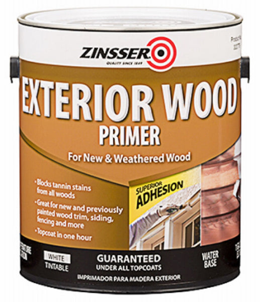 Zinsser 322779 Exterior Wood Primer, White, 1 Gallon