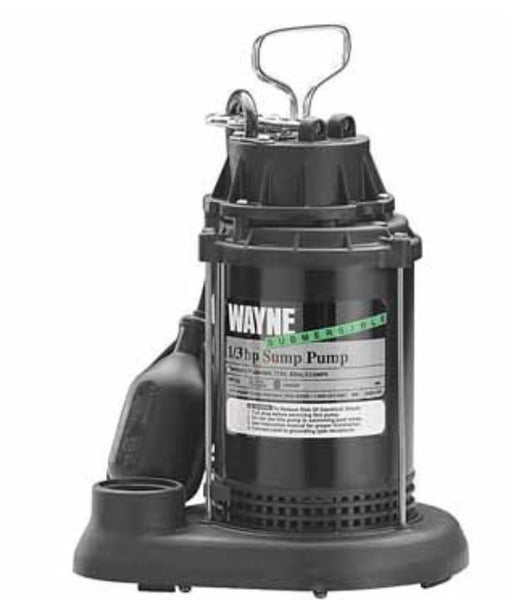 Wayne SPT 33 Submersible Sump Water Pump, 1/3Hp