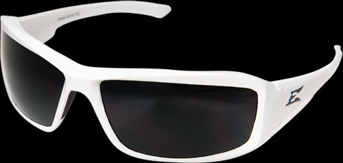 Edge Eyewear TXB246 Brazeau Safety Glasses, White Frame/Polarized Smoke Lens
