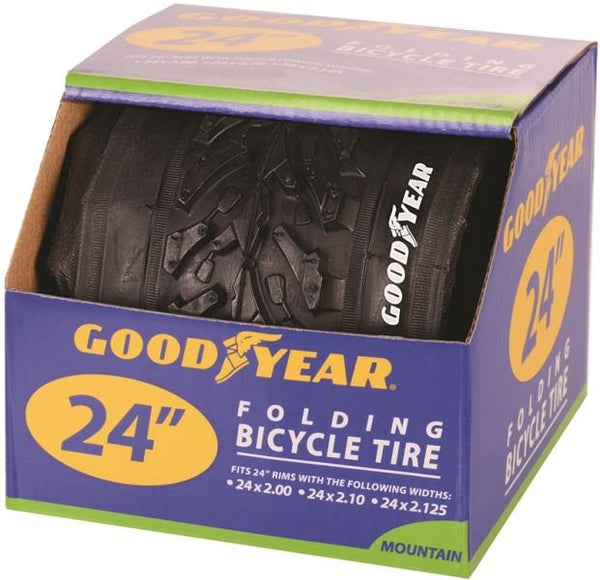 "Goodyear 91057 Folding Bicycle Tires, 24"" X 2.0 - 2.10 - 2.125, Black"