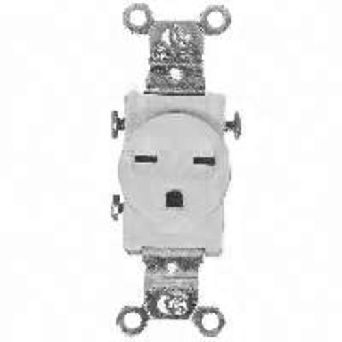 Cooper Wiring 816W-BOX Grounding Single Receptacle 15 Amp, White
