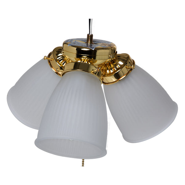 Boston Harbor CF-3FLK-PB Ceiling Fan Light Kit, Polished Brass