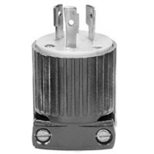 Cooper Wiring L620P Locking 3 Wire Ground Plug, Gray