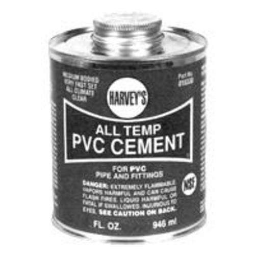 Harvey 018320-12 All Weather Pvc Cement 16 Oz - Clear