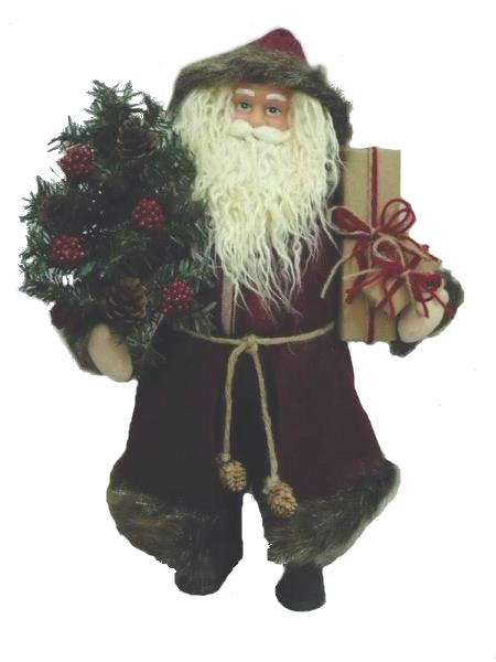 Holiday Basix YHH12-119 Standing Santa With Presents, 18""