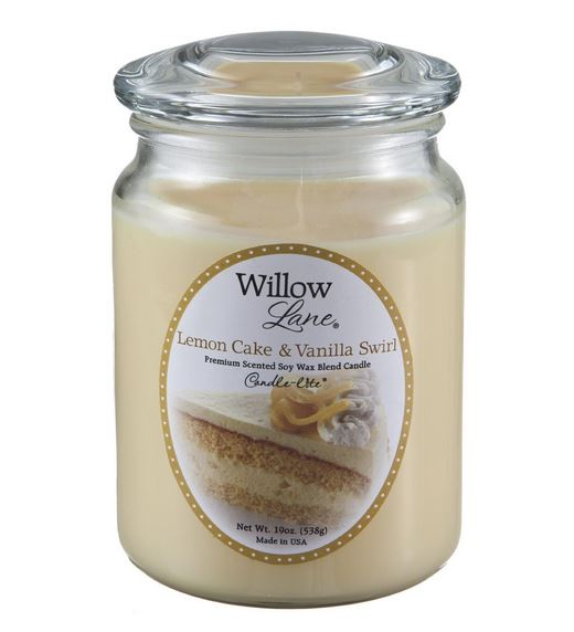 Candle Lite 1646864 Scented Candles Jar, 19 Oz, Lemon Vanilla