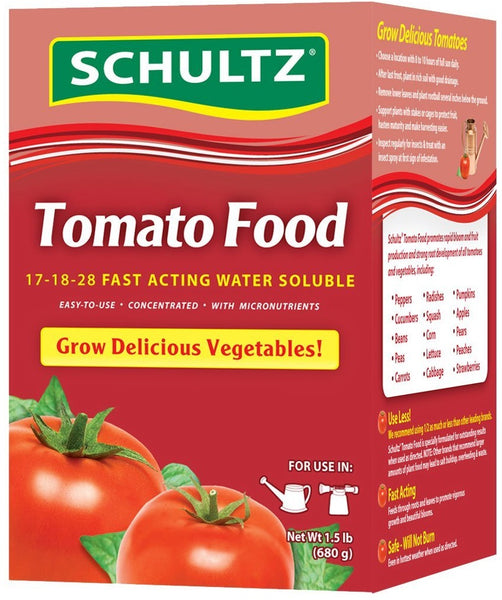 Schultz SPF70370 Fast Acting Water Soluble Tomato Food, 17-18-28, 1.5 lbs