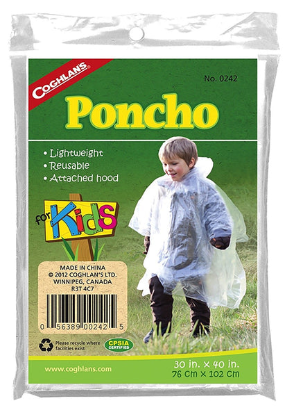 "Coghlan's 242 Poncho for Kids, 30"" X 40"""