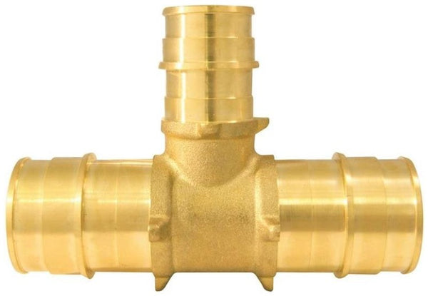 "Apollo EPXT1134 Pipe Reducing Tee, Brass, 1"" x 1"" x 3/4"""