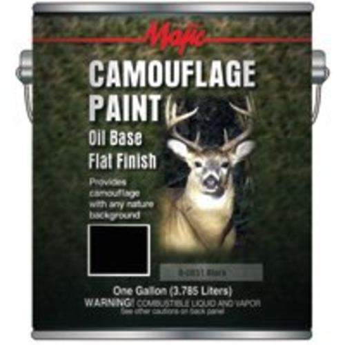 Majic 8-0851-1 Black Camouflage Paint, 1 Gallon