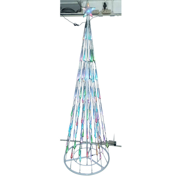 Santas Forest 60407 Changing LED Bubble Light Cone Tree, 7 Ft