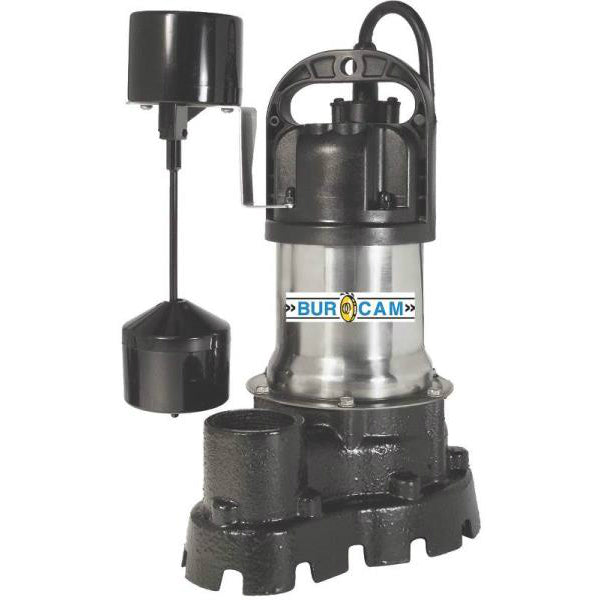 Bur Cam 300526 Submersible Sump Pump, 1/2 Hp