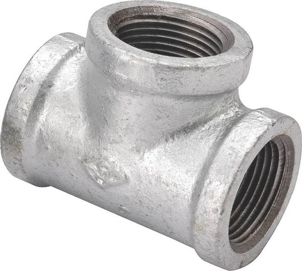 Worldwide Sourcing 11A-1/2G Galvanized Malleable Tee, 1/2""