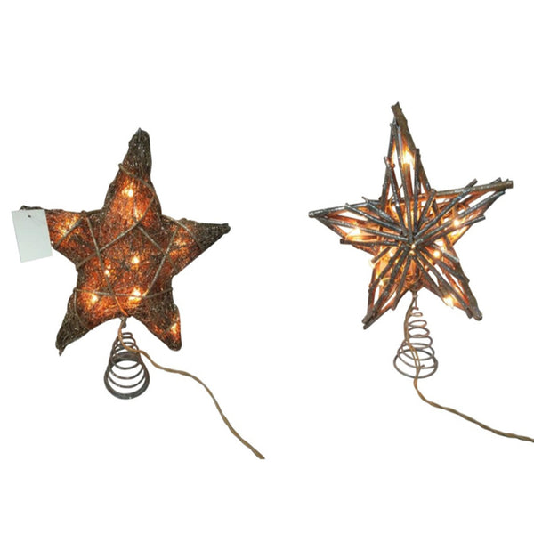 Santas Forest 58401 Christmas Rustic Tree Topper, Pack Of 2