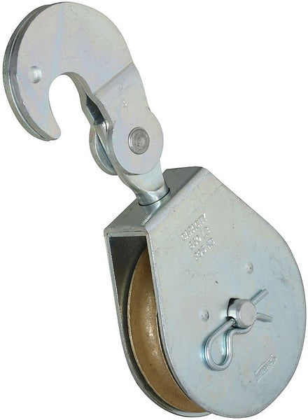 National Hardware N229-005 3215BC Swivel Hook Single Pulley, Zinc Plated