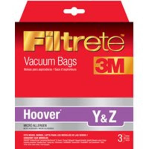 Filtrete 64702A-6 Hoover Style Y & Z Vacuum Cleaner Bag, Pack 3