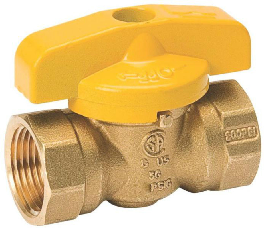 "ProLine 210-522RP Quarter-Turn Forged Brass Gas Ball Valve, 3/8"" FPT, 200 PSI"