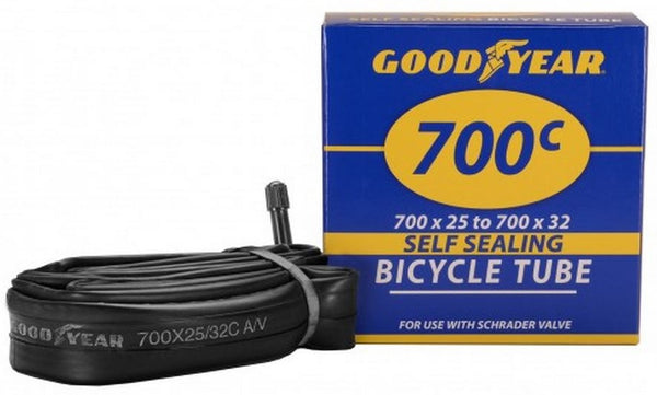 Goodyear 95202 Self-Sealing Bicycle Tube fits 700 x 25/32c Tire