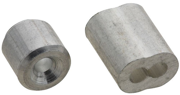 "National Hardware N830-351 Ferrule and Stop, Aluminum, 3/32""`"