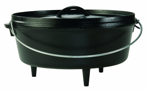 Lodge L10CO3 Camp Dutch Oven With Lid, 4 Quart