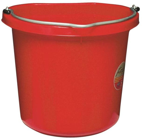 Fortex/Fortiflex  FB-120R Flat-Sided Red Bucket, 20 Quart