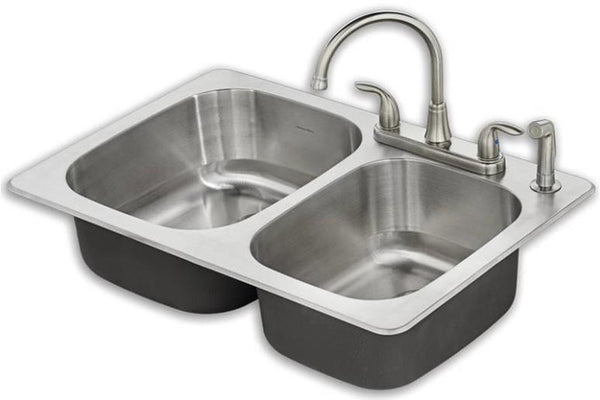 American Standard 20CR.332284C.075 Fairport Kitchen Sink Kit, Stainless Steel, 8""