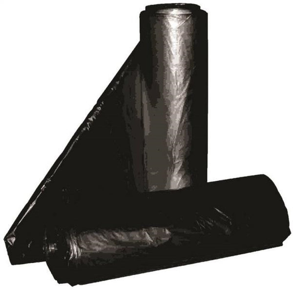 "Aluf Plastics RCT-45XX Low-Density Repro Can Liner, Black, 40"" x 46"", 45-Gal"