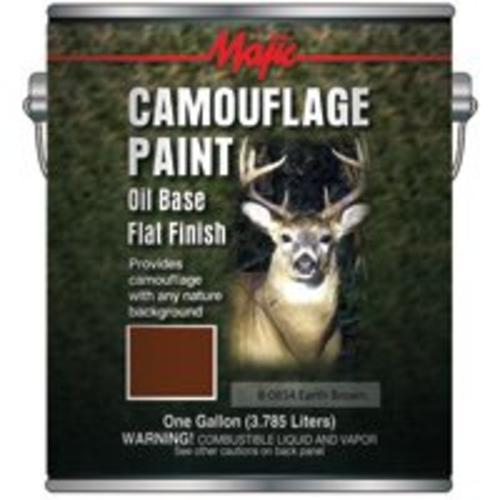 Majic 8-0854-1 Camouflage Paint - Gallon,Earth Brown