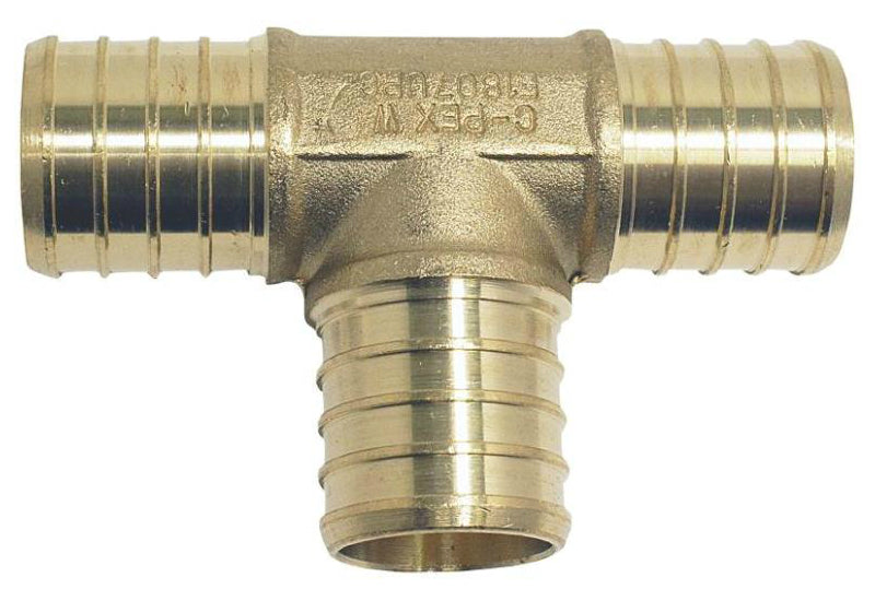 Apollo Valves APXT34 PEX Fitting Crimp Tee, Brass, 3/4""