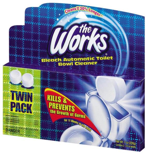 The Works 03202WK Automatic Toilet Bowl Cleaner, 2 Pack