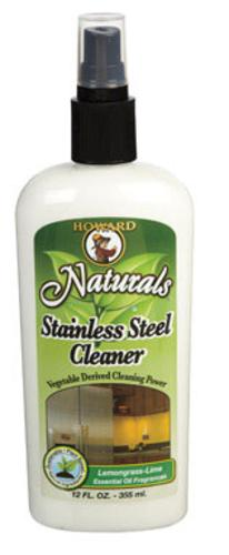 Howard SS5012 Stainless Steel Cleaner, 12 Oz