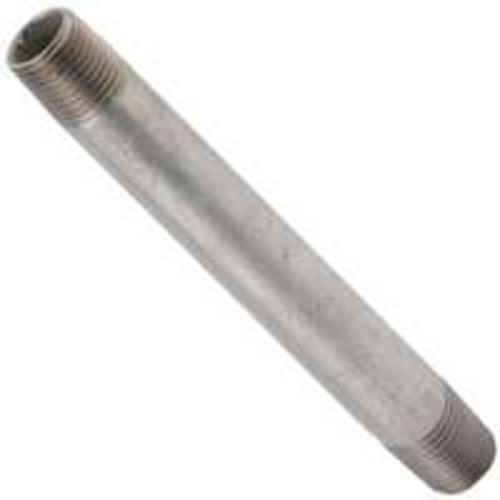 "Worldwide Sourcing 11/4X7G Galvanized Standard Pipe Nipple 1-1/4""X7"""