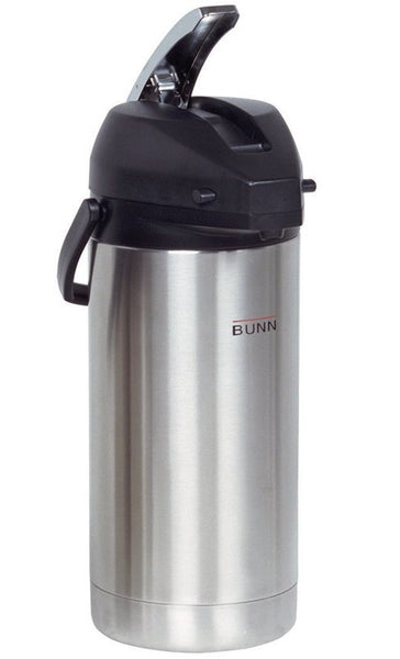 Bunn 36725.0000 Lever-Action Airpot Coffeepot, Stainless Steel, 128 Oz