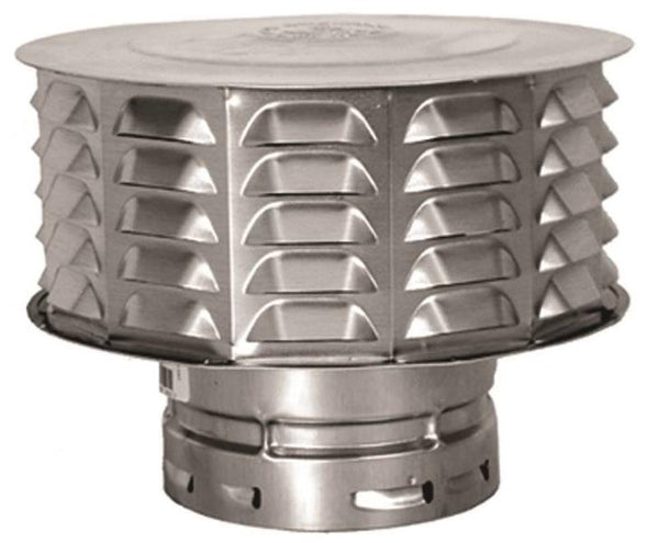 AmeriVent 4ECW Double Wall Universal Gas Vent Cap,, 4""