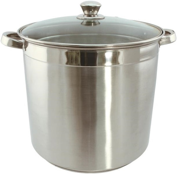Dura-Kleen 3012 Eurohome Stock Pot With Glass Lid, 12 Quart