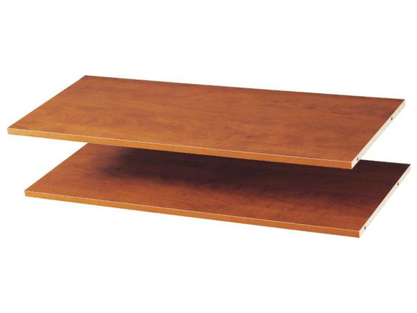 "Easy Track RS1436-C Shelves, Cherry, 35"" x 14"" Deep, Set Of 2"