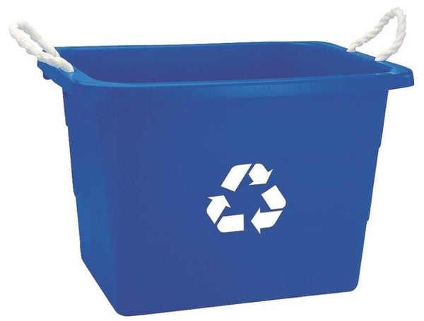 United Plastics TU0105 Recycling Rectangular Tub 19 Gal