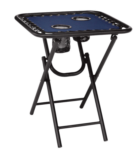 Seasonal Trends T5S18FR1BKOX60 Bungee Folding Table, Navy, 18""