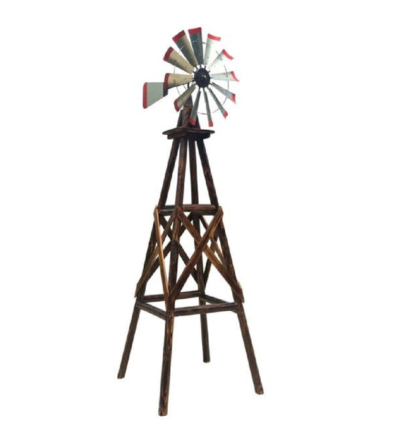 Char-log TX93485 Windmill, Heavy Gauge Steel, 9'