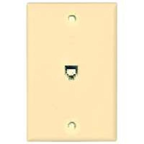 Cooper Wiring 3532-4V Phone Wall Jack - Single Gang