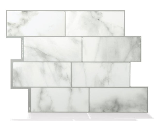 Smart Tiles SM1080-6 Peel and Stick Mosaic Decorative Wall Tile, Metro Carrera