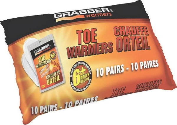 Grabber TWEF10 Adhesive Toe Warmers, 6+ Hour, 10-Pair