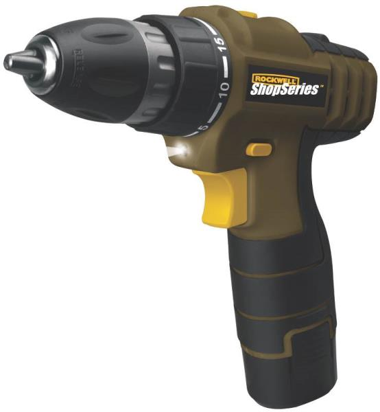 "Rockwell SS2504 Shopseries Cordless Drill & Driver, 3/8"", 12 Volt"