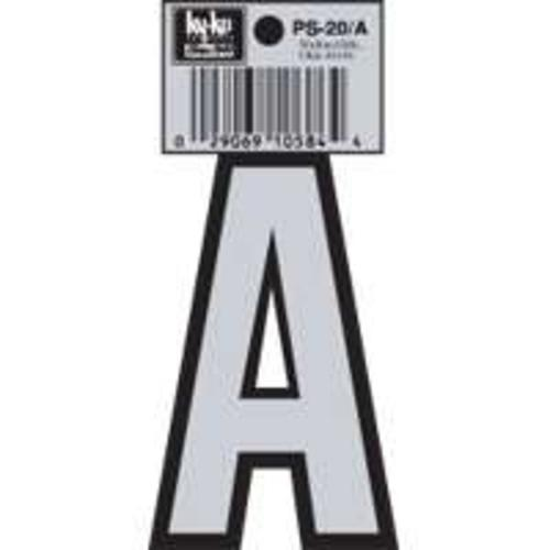Hy-Ko PS-20/A Reflective Vinyl House Letter A, 3-1/4""