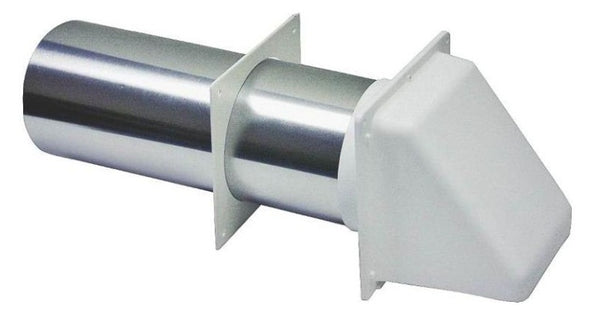 Lambro 209W White Dryer Vent Hood, 4""