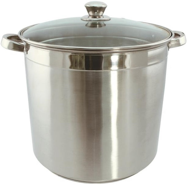 Dura-Kleen 3020 Eurohome Stock Pot With Glass Lid, 20 Quart