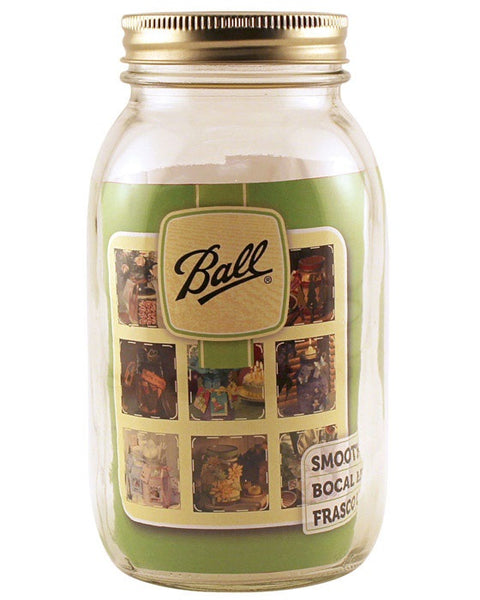 Ball 1440062500 Regular Mouth Mason Jar, Clear, 1 Quart